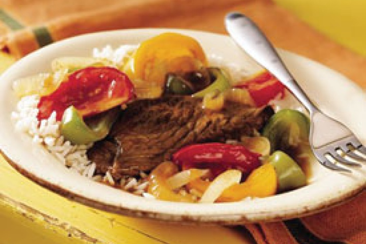 slow cooked pepper steak | Crock pot! | Pinterest