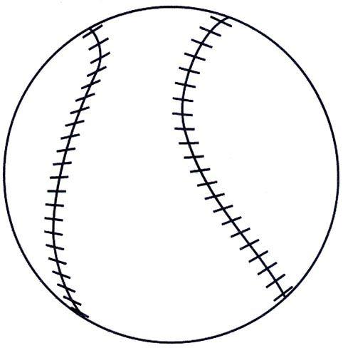 Baseball+Template+Printable Baseball Template | Baseball | Pinterest