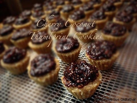 Cherry Coconut Thumbprint Cookies - healthy version with no refined ...