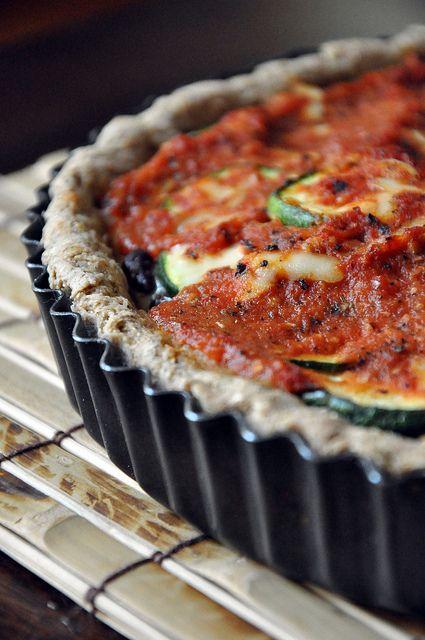 never} homemaker: Deep Dish Veggie Tart | VEGGIES | Pinterest