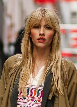 middle part with bangs | hair | Pinterest