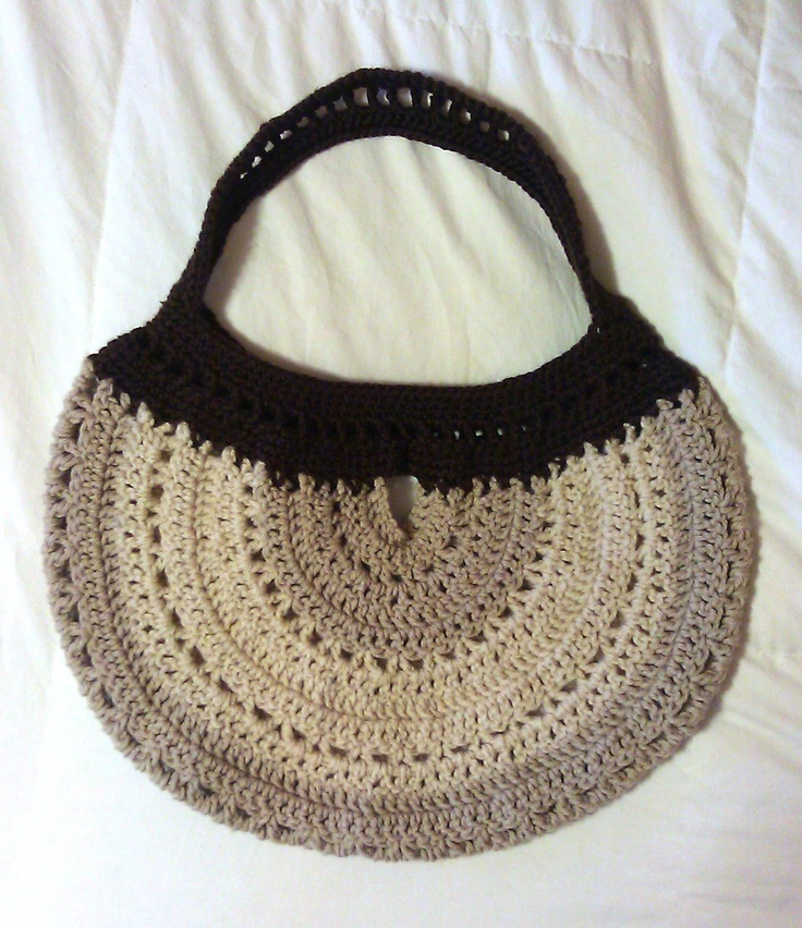 Crochet Hobo Bag Pattern : Hobo Bag - free pattern KnIt & CrOcHet Pinterest