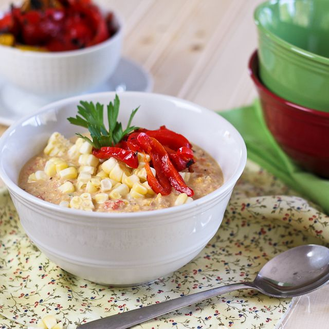 Roasted Bell Peppers And Raw Corn Chowder Recipes — Dishmaps