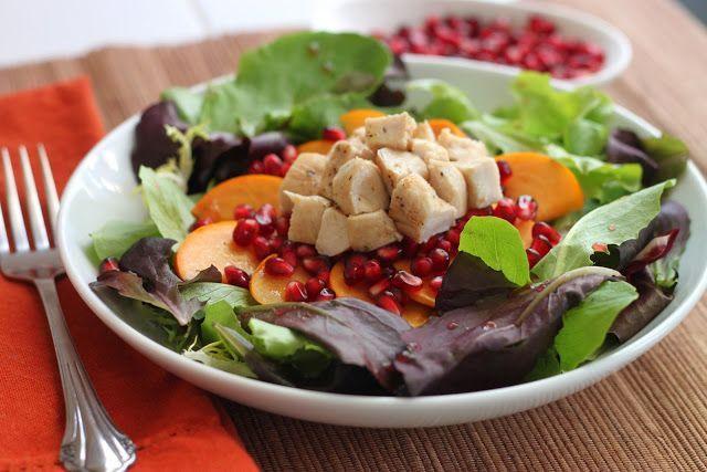 Persimmon Pomegranate Fruit Salad