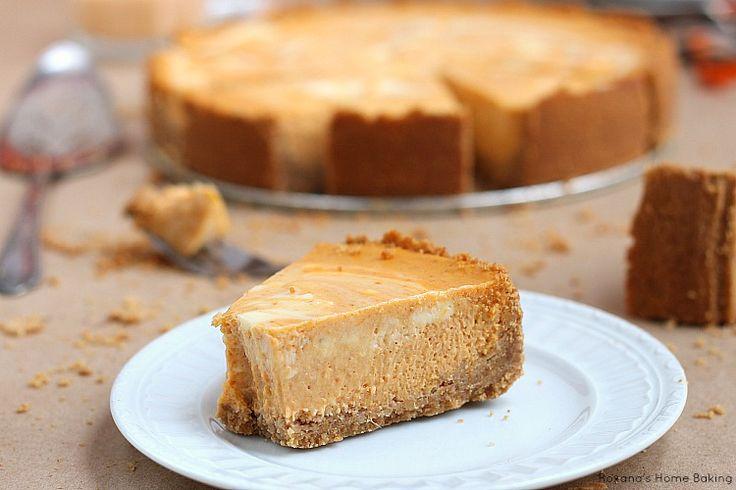 Marble pumpkin cheesecake recipe   Fooood   Pinterest