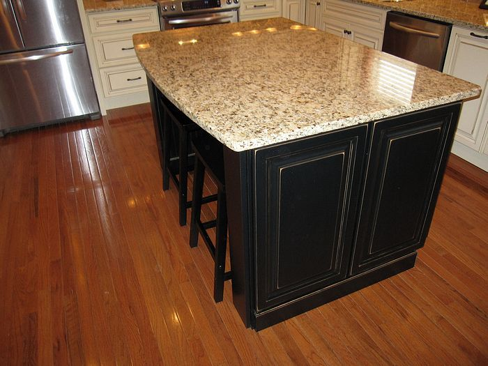 oak kitchen cabinets with dark island kitchen as well as before