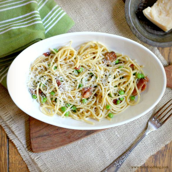 pasta salad with peas and pesto spaghetti carbonara with green peas ...