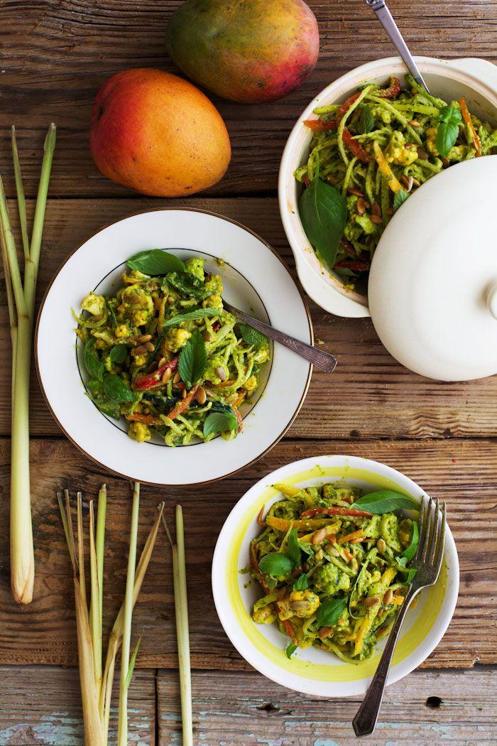 Lemongrass Mango Curry with Toasted Pumpkin Seeds -use agave