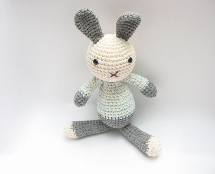 Amigurumi Spring Bunny : Soft Bunny Toy Amigurumi Crochet Stuffed Plush Easter ...