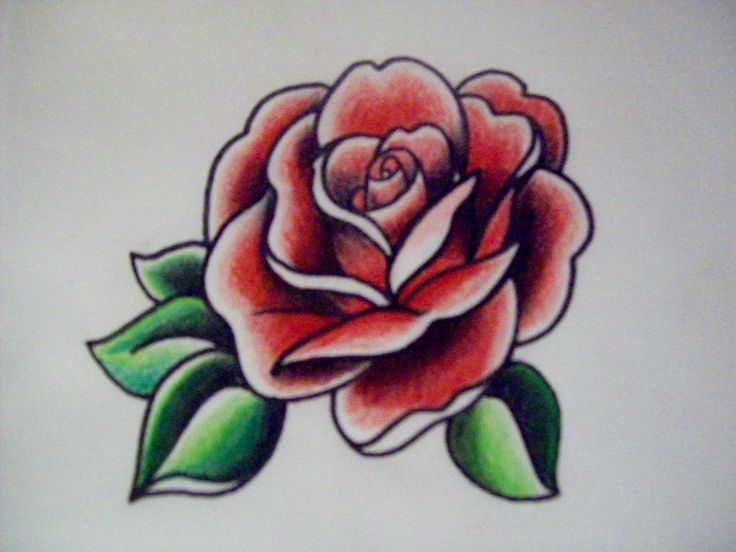 american traditional rose flash graphic marker and colored pencil tattoos pinterest. Black Bedroom Furniture Sets. Home Design Ideas