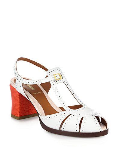 Shop now: Bicolor Patent Leather Sandals