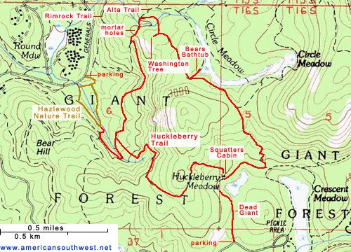 Sequoia national forest map illustration styles. Sequoia National ...