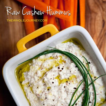 ... ! Get the recipe here -> http://thewholejourney.com/raw-cashew-hummus