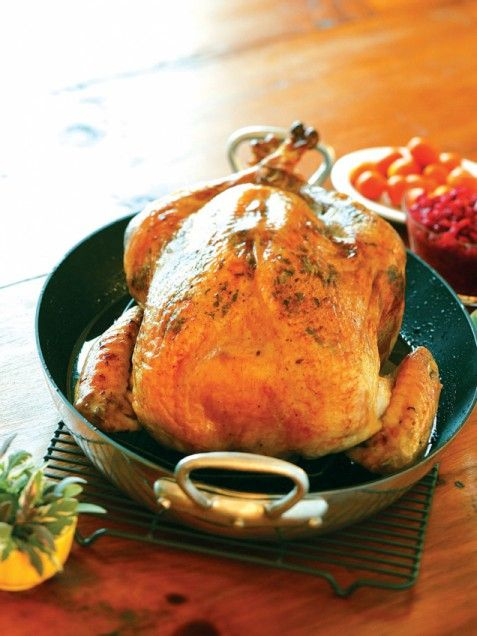 Brined roast turkey with sage butter rub -Want to learn to brine ...