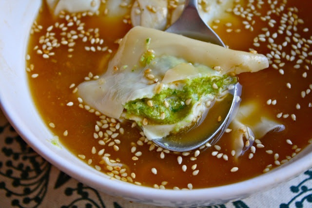 Sparrows & Spatulas: Edamame Wonton Soup-- try with Kiersten's ...