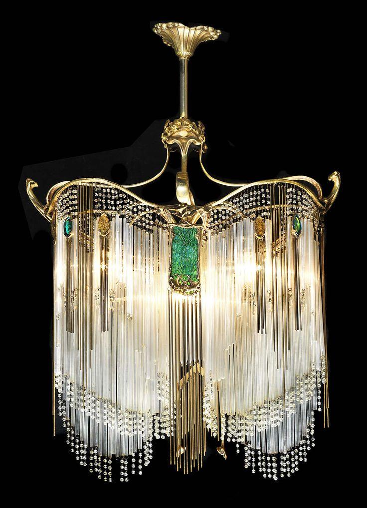 Art nouveau chandelier hector guimard art nouveau for Chandelier art nouveau