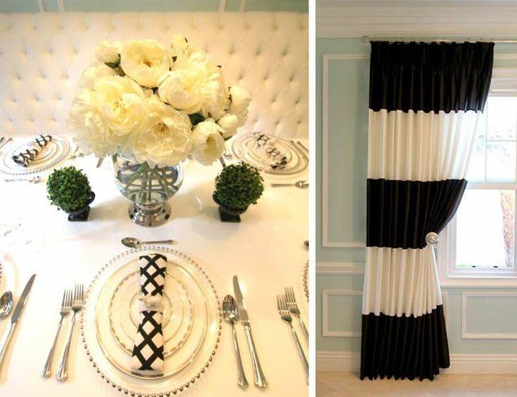 nsinteriordesign.com - bold black & white striped curtains