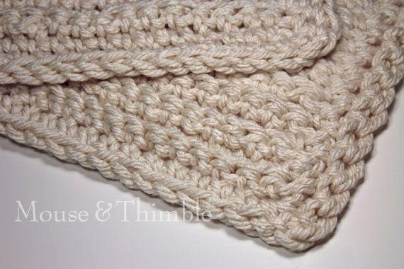 Bulky Crochet Patterns : Bulky Fisherman Sofa Throw Blanket - Easy Crochet PATTERN PDF 6058 ...