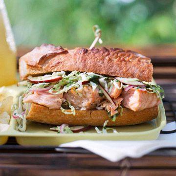 Lime Barbecue Salmon Sandwiches   sammys   Pinterest
