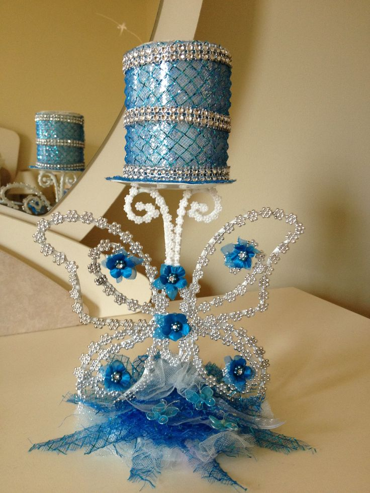 Butterfly quinceanera theme centerpiece negocio pinterest