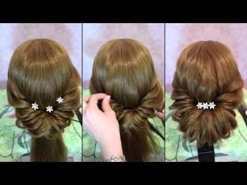 Причёски из длинных волос на праздник
