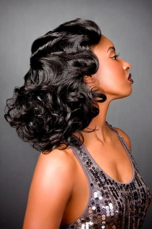 Soft Finger Waves with Pin Curls