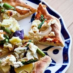 Potato, Asparagus, Goat Cheese Pizza | Fooood 4 | Pinterest