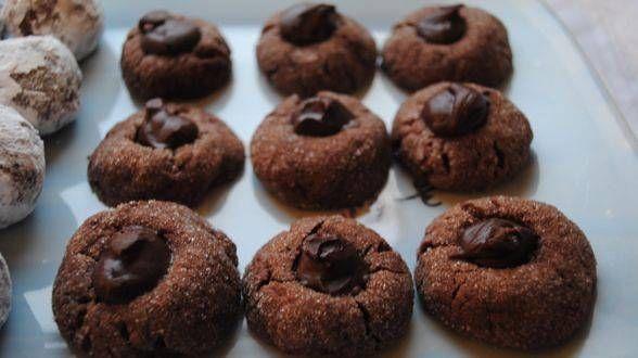 Chocolate Mint Thumbprints | Desserts | Pinterest