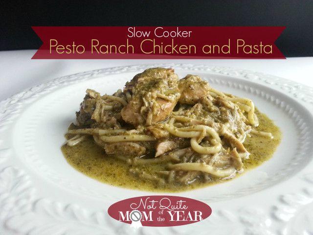 Slow Cooker Pesto Ranch Chicken & Pasta | Crock Pot Recipes | Pintere ...