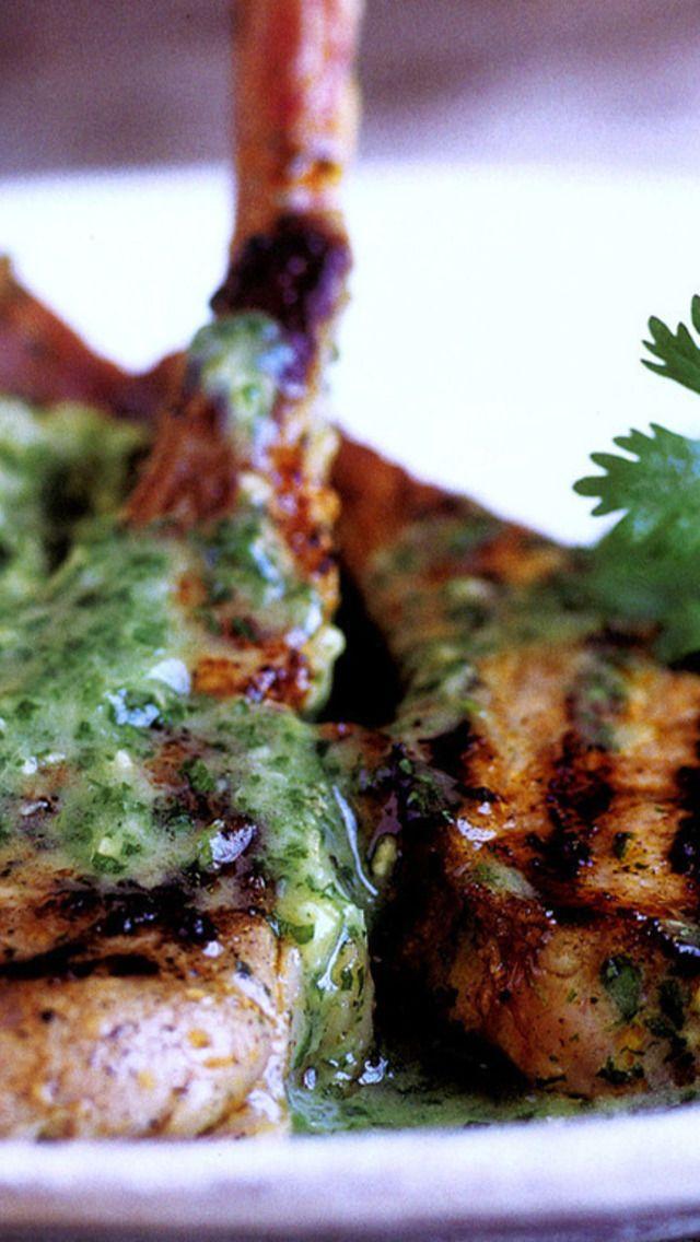 ... lamb chops spiced lamb chops lamb chops with cilantro mint sauce