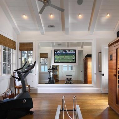 Exercise Room Mirror Surrounding Tv For The Home