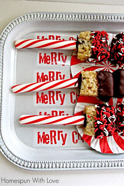 Candy Cane Cereal Treats | Rice Krispies or other cereals recipes | P ...