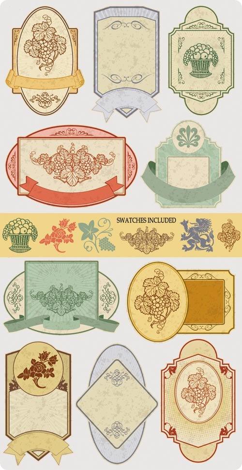 Etiquetas vintage editables para tarros de cristal
