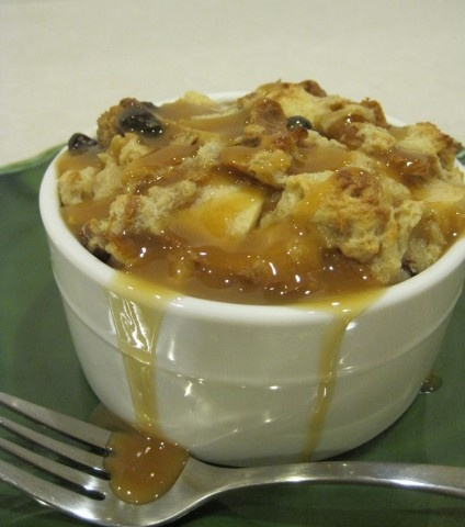 Caramel Apple Bread Pudding...would peaches work?