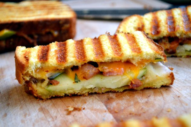 Cheddar, Apple, Bacon Panini | Crazy for Cooking | Pinterest