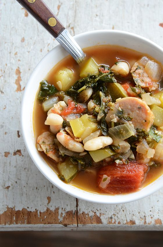 spinach stew white bean sausage and kale stew recipe yummly white bean ...