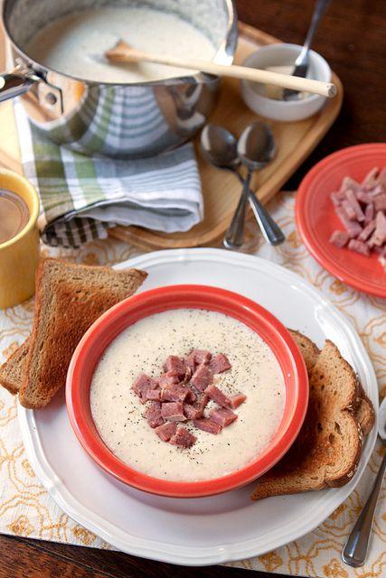 Creamy White Cheddar Grits with Ham | Yummy | Pinterest