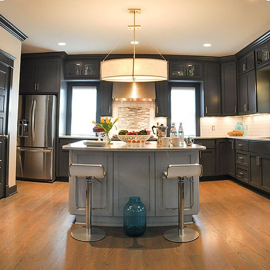 Charcoal Grey warms up this Kitchen  kitchen  Pinterest