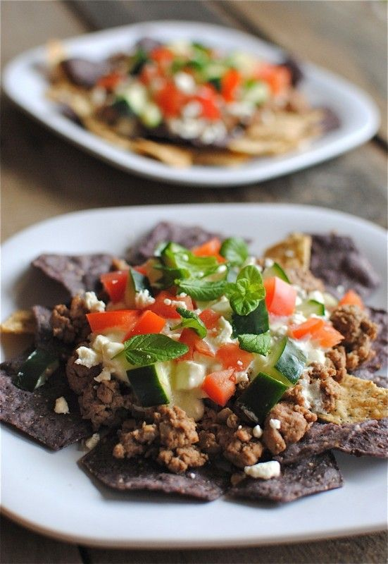 Simple Greek Nachos | Recipes I need to try | Pinterest