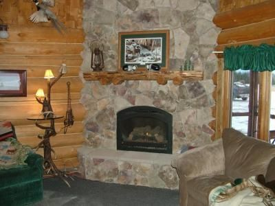 Log Cabin Fireplace Log Cabins Fireplaces Pinterest