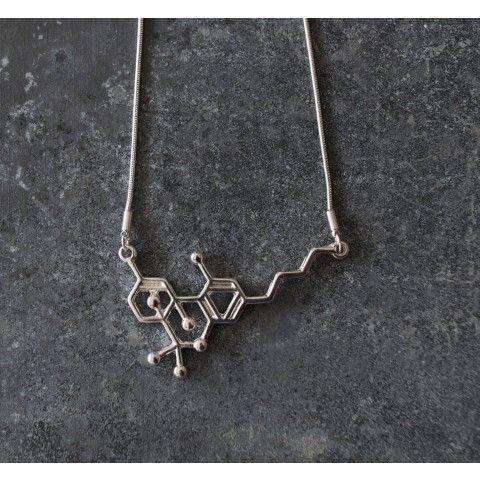 thc molecule necklace cannabis