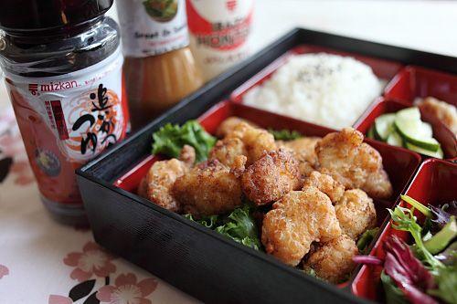 Japanese Fried Chicken Bento | Easy Asian Recipes at RasaMalaysia.com
