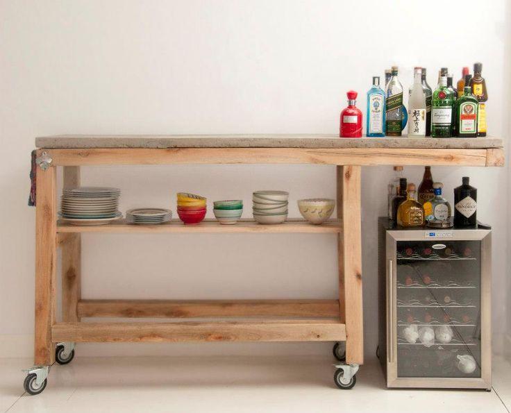 Barra movil deco pinterest for Bar movil de madera