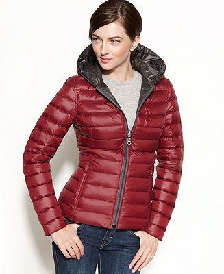 Nautica Coat, Reversible Hooded Quilted Packable Puffer - Coats - Women - Macy's