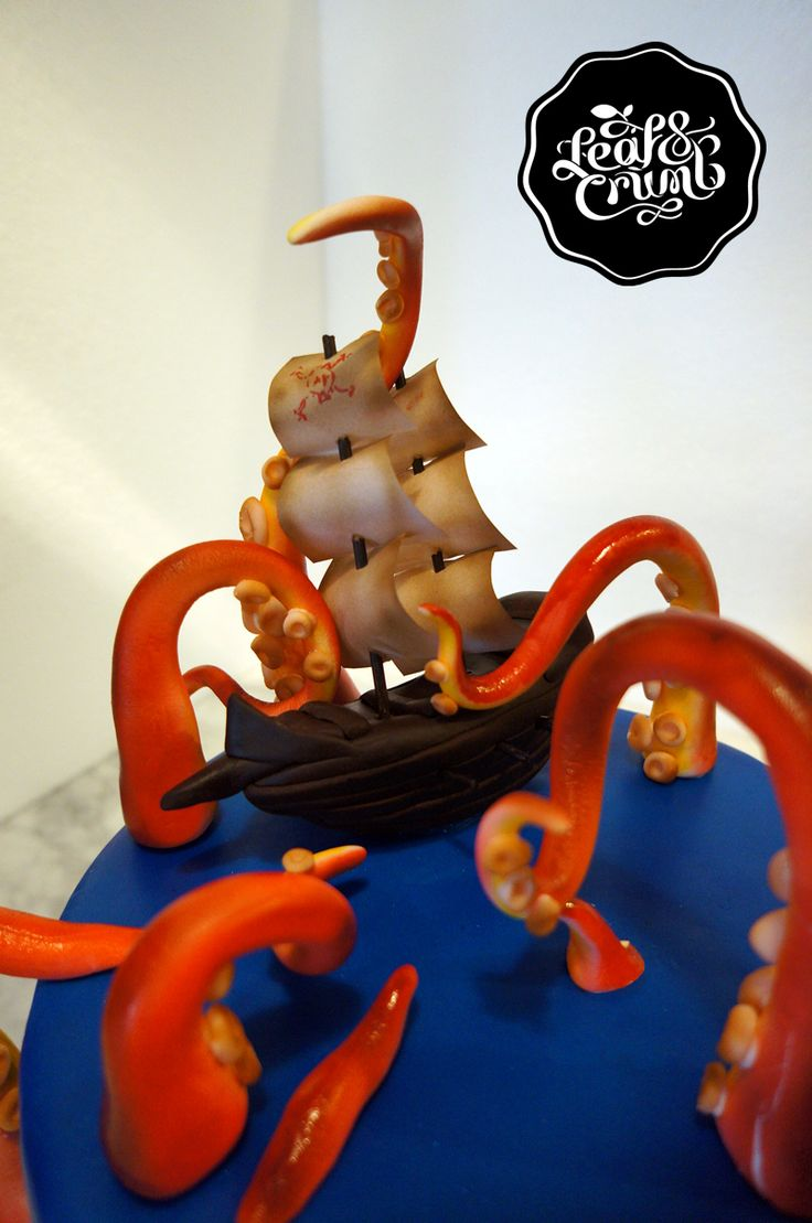 ... looking cake I've ever seen! - Pirate/Sea Monster cake by Leaf & ...