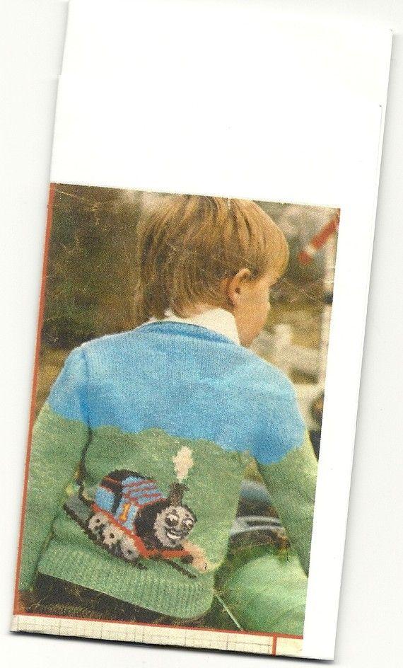 Thomas Knitting Pattern : PDF Knitting pattern thomas tank engine sweater. 22-26 ...