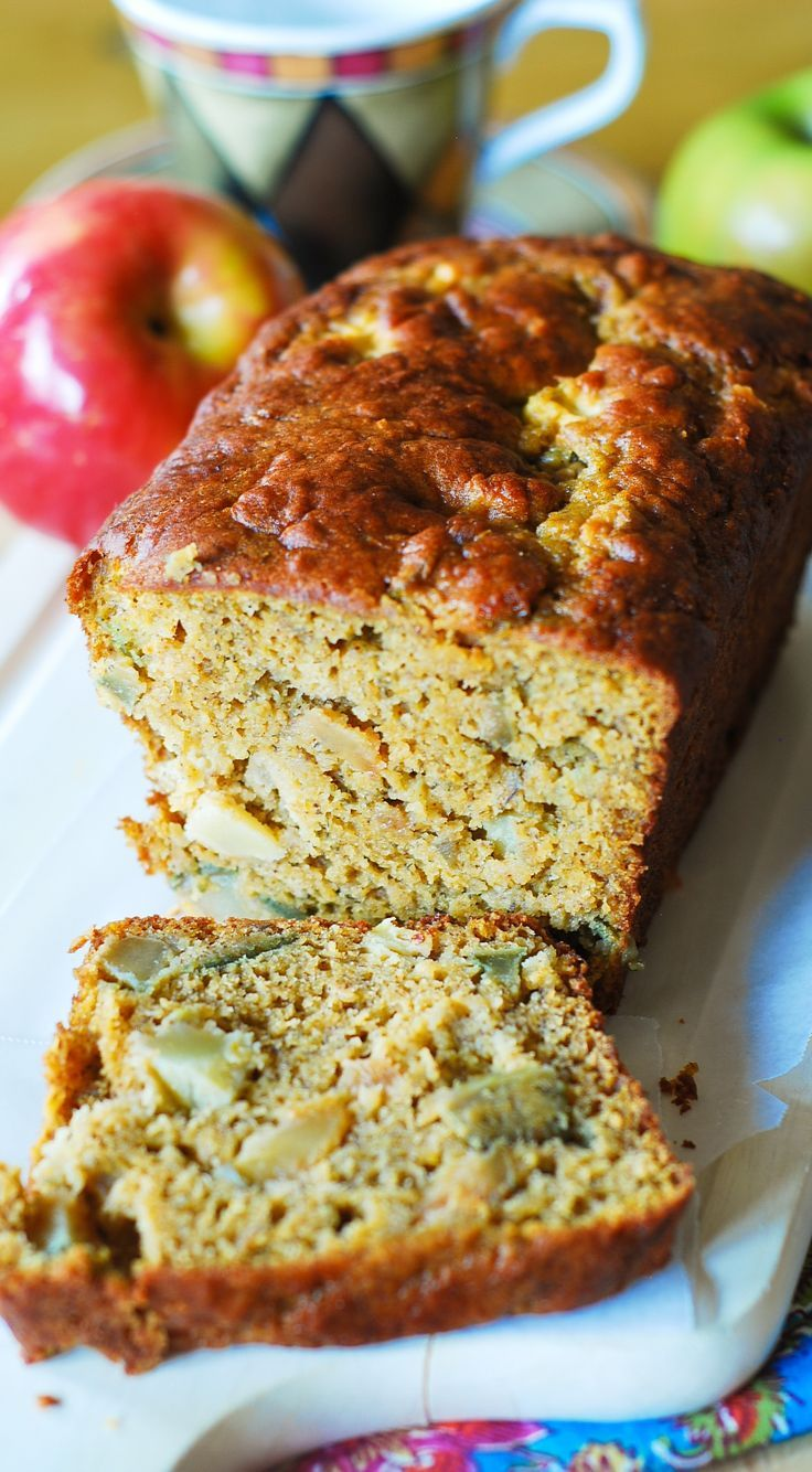 Pumpkin banana bread with apples.   I'm crazy for anything pumpkin ...