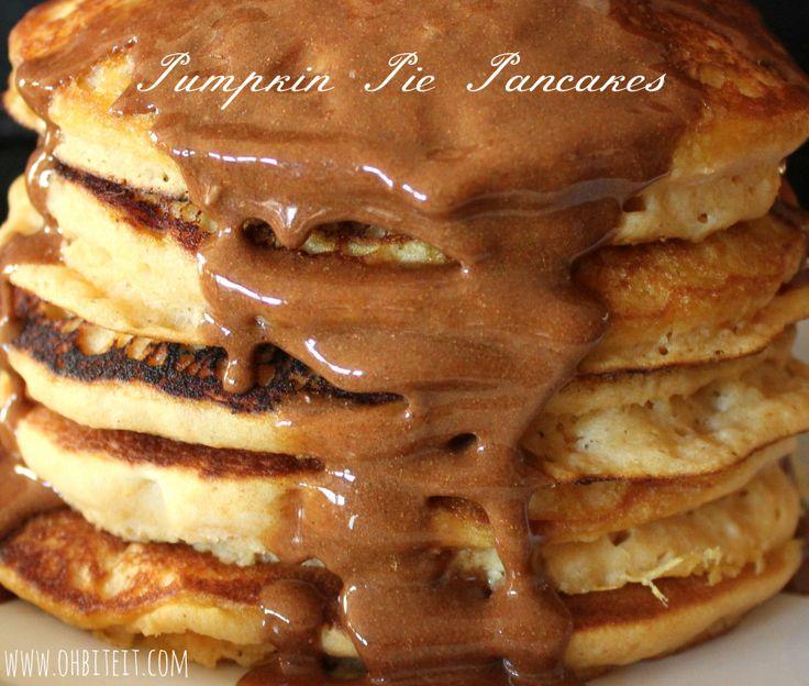 Pumpkin Pie Pancakes! | Oh Bite It | PUMPKIN | Pinterest