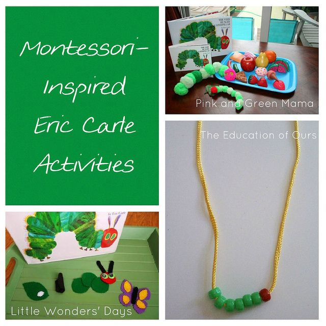 If you're looking for Eric Carle activities, check this out for a roundup of Montessori-inspired Eric Carle activities, the link to the collaborative Eric Carle Activities Pinterest board, and the Happy Birthday Eric Carle Linky!