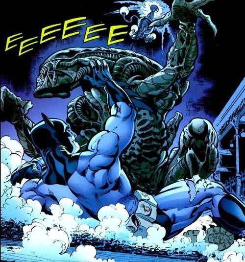 batman vs alien by - photo #19